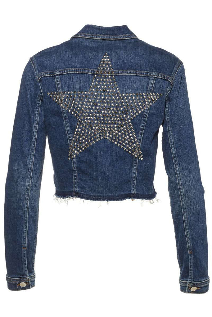 Zuma Cropped Jacket with Studded Star