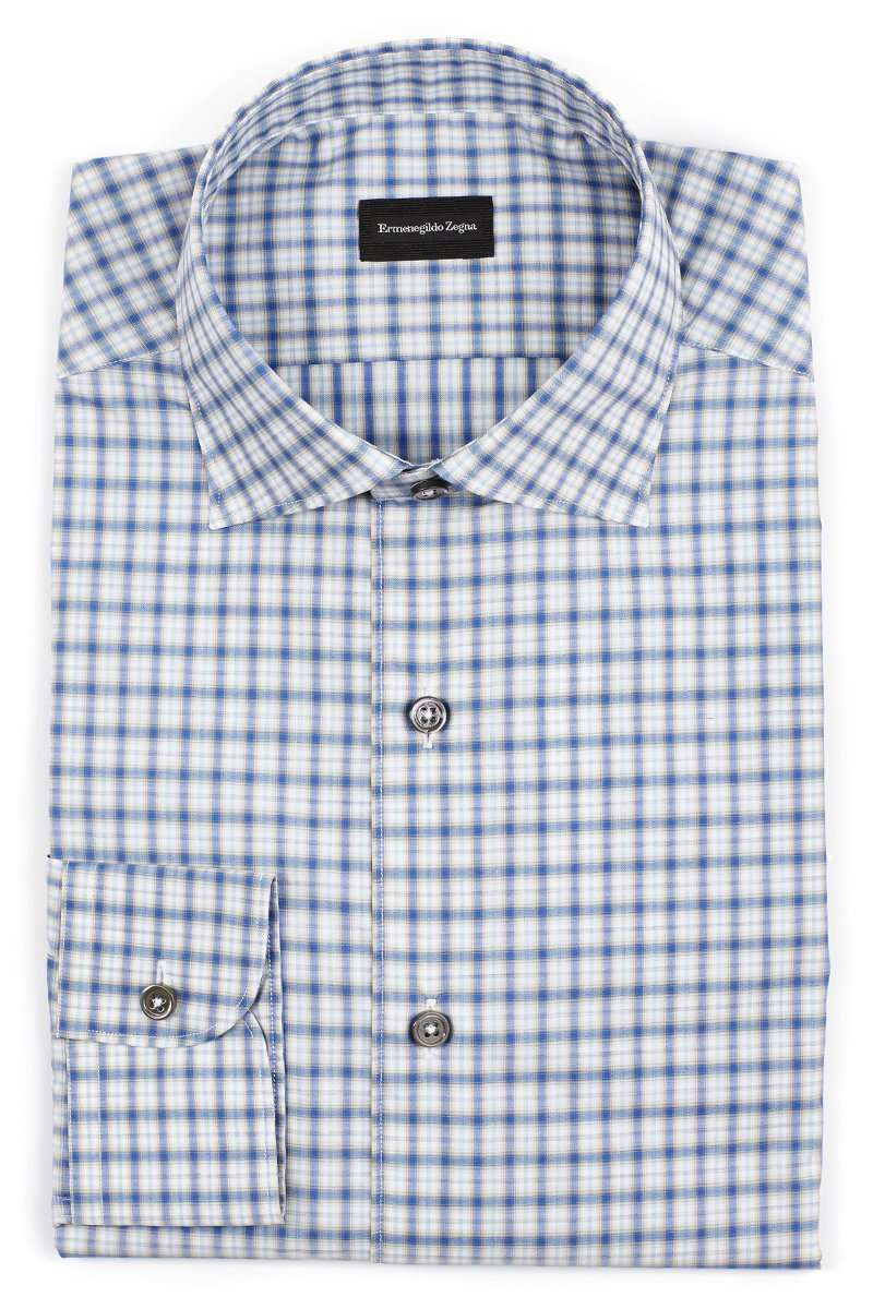 Blue Checked Sportshirt