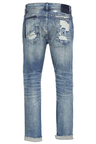 Blake Slim Straight Cropped Selvedge Jeans