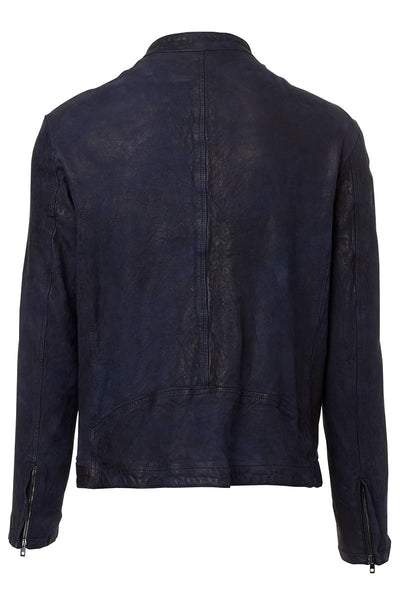 Salvatore Santoro, Washed Leather Moto Jacket