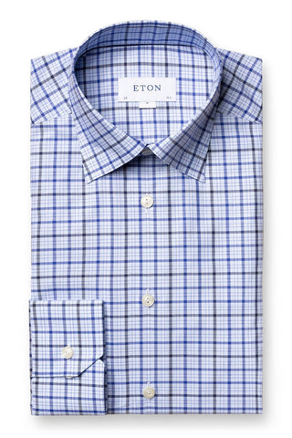 Blue Checks Fine Twill Shirt