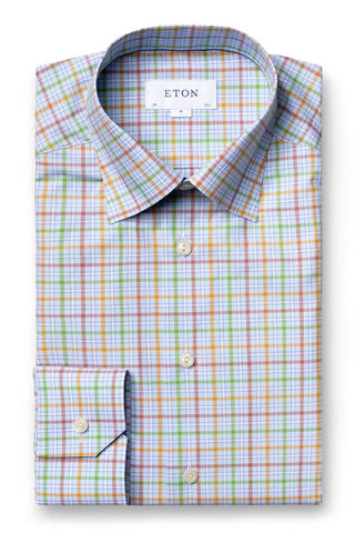 Colored Checks Fine Twill Shirt