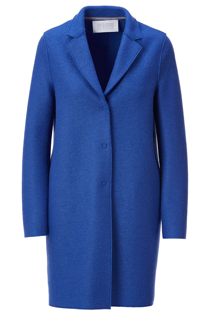 Pressed Wool Cocoon Coat