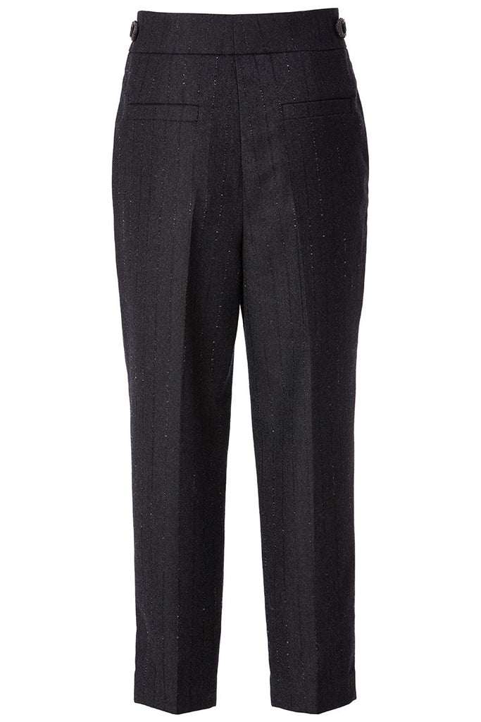Pinstriped Pleated Trousers