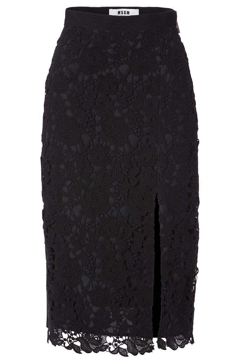 , Lace Overlay Skirt