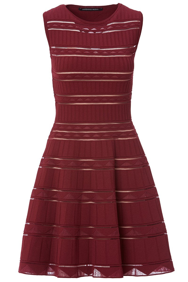 Triangle Striped Flared Dress