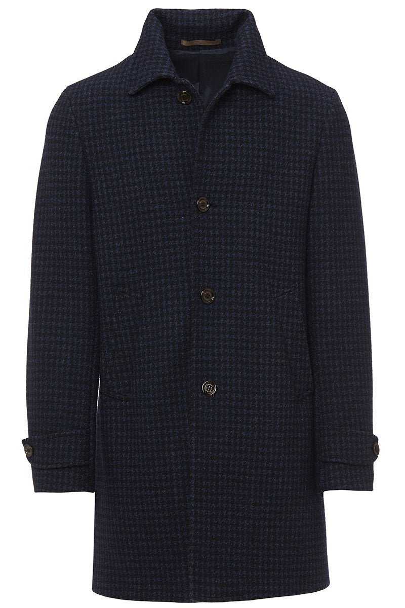 Houndstooth Car Coat