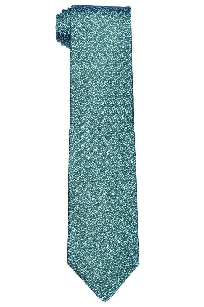 Elephant Outline Printed Tie
