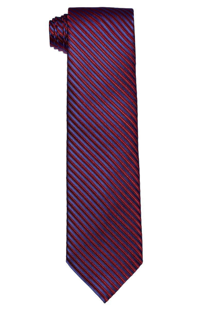 Purple & Red Striped Tie