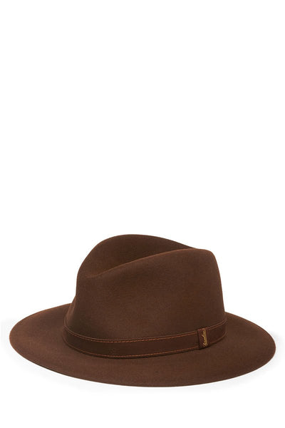Borsalino, Alessandria Leather Trim Hat