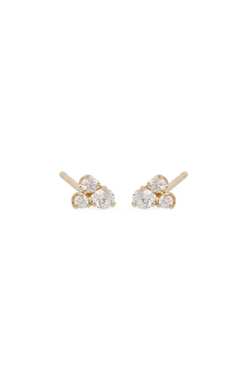 Zoë Chicco, Mixed Diamond Stud Earrings