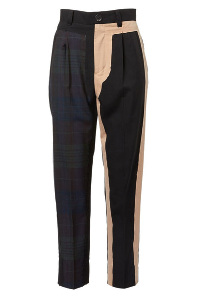 BASE MARK, Patchwork Combo Pants