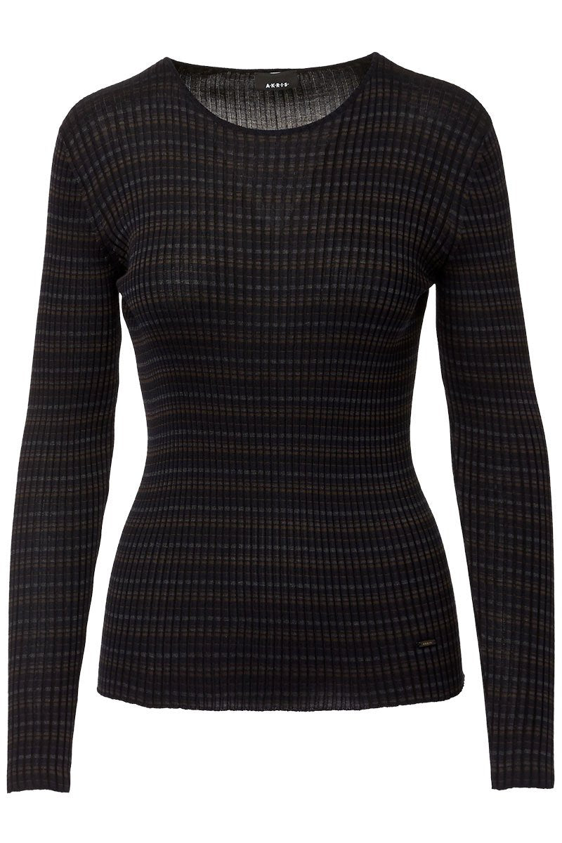 Akris, Check Ribbed Pullover