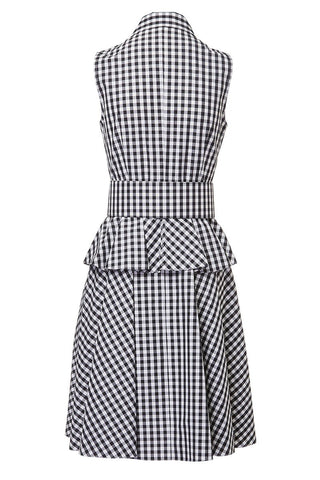 Michael Kors Collection, Gingham Peplum Shirtdress