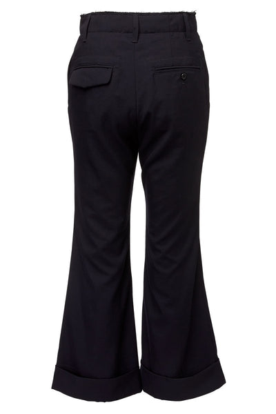 BASE MARK, Cuffed Flare Pants