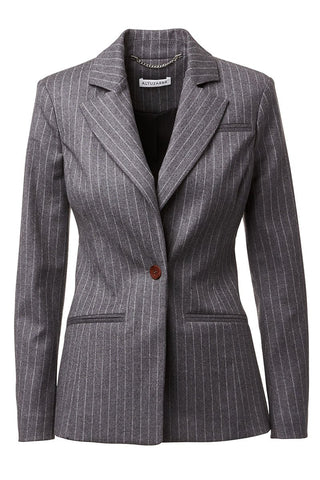 , Pinstriped Blazer
