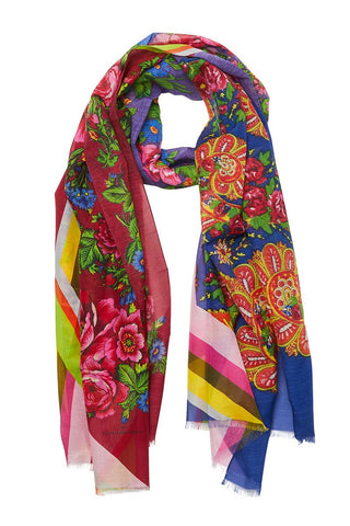 Pierre-Louis Mascia, Bright Floral Collage Scarf