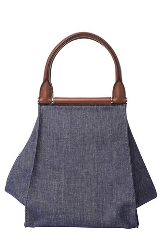 Top Handle Denim Shopper