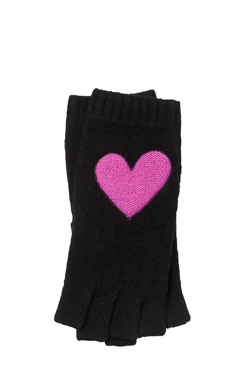 Heart Fingerless Gloves