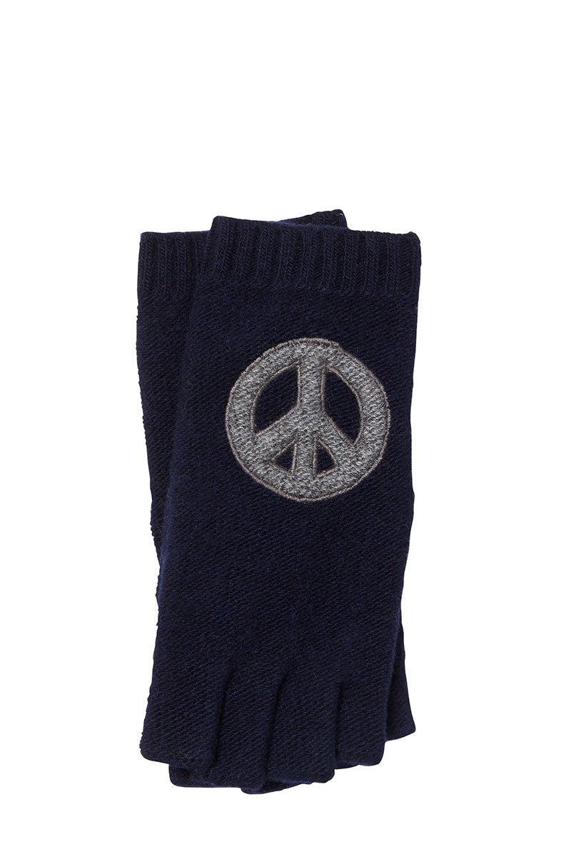 Peace Fingerless Gloves