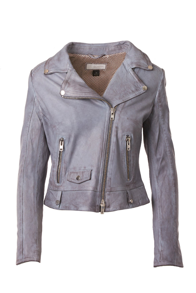 Viola Leather Biker Jacket