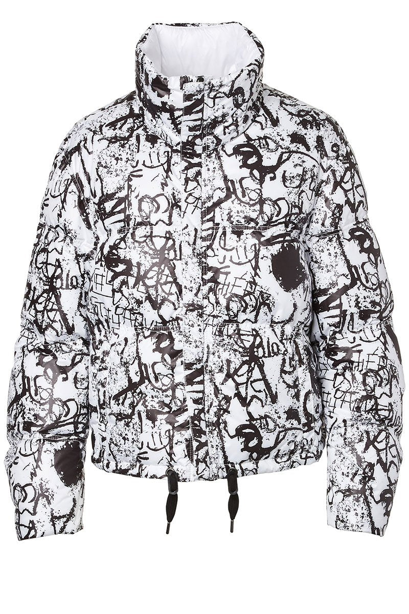 Reversible Graffiti Puffer Coat