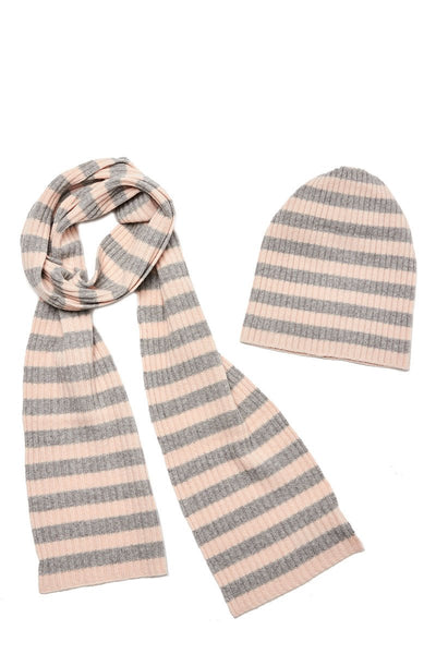 Stripe Ribbed Scarf