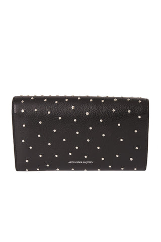 Studded Leather Travel Wallet