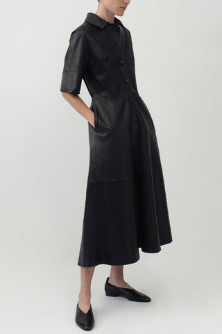 Leather Placket Dress