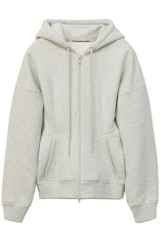 Sculpted Zip-Up Hoodie