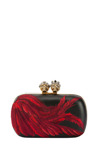 Queen & King Feather Clutch