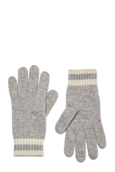 Stripe Cuff Knit Gloves