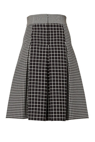 Graphic Grid Skirt