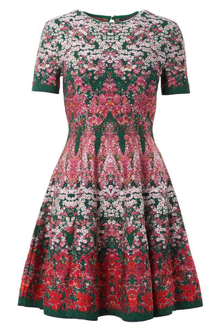 Flowerbed Jacquard Dress