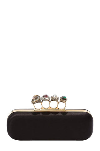 Jeweled Four Ring Clutch