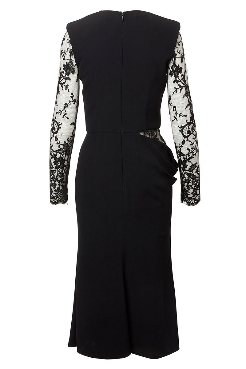 Alexander McQueen, Lace Detail Midi Dress