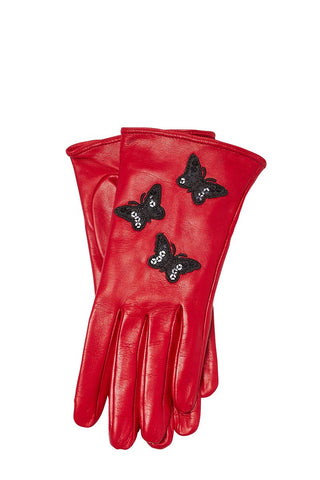 Guanti Giglio Fiorentino, Butterfly Leather Gloves