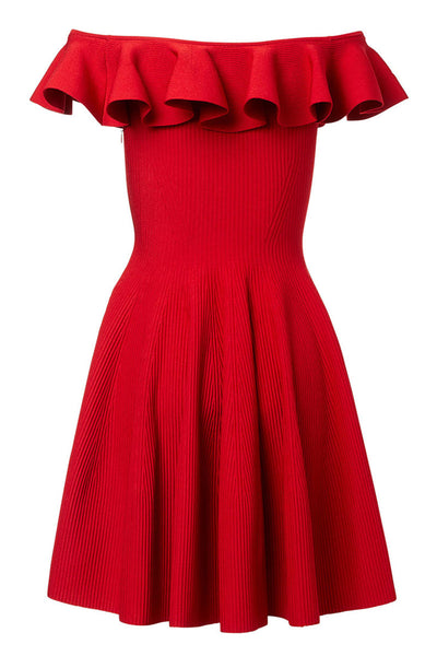 Alexander McQueen, Ruffle Neck Mini Dress