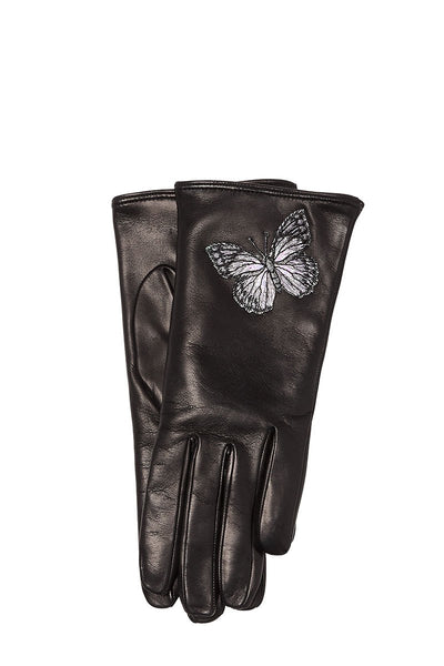 Butterfly Leather Gloves