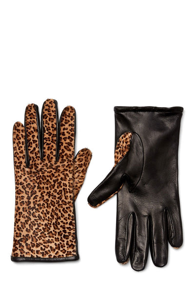 Guanti Giglio Fiorentino, Leopard Leather Gloves