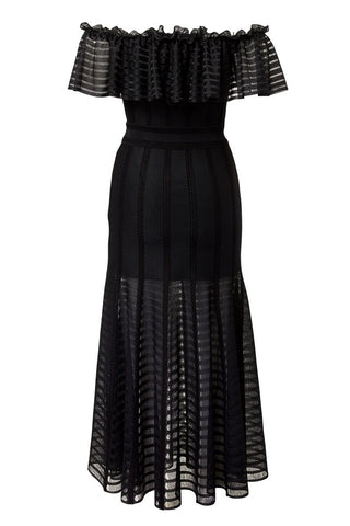 Alexander McQueen, Off-The-Shoulder Midi Dress