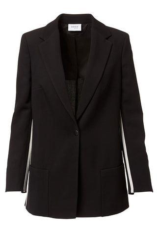 Akris Punto, Side Stripe Boyfriend Blazer