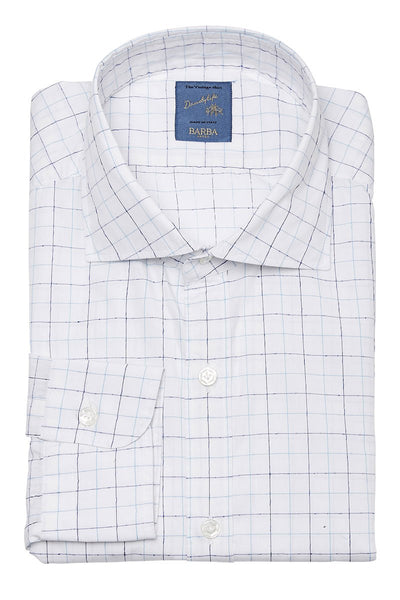 Barba, Windowpane Check Sportshirt