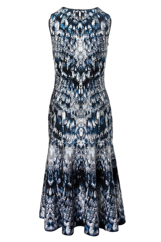 Alexander McQueen, Crystal Jacquard Midi Dress