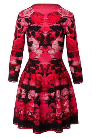 Alexander McQueen, Rose Jacquard Dress