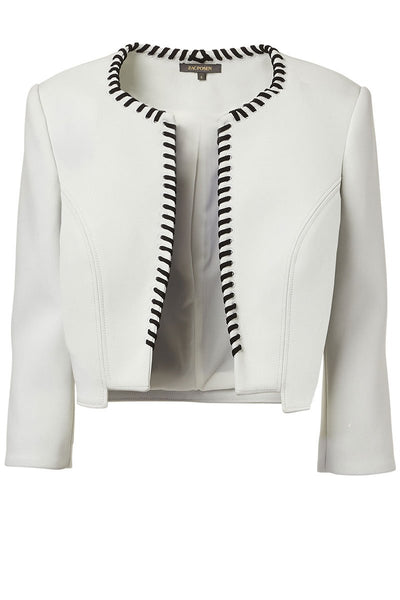 Zac Posen, Cropped Ribbon Trim Jacket