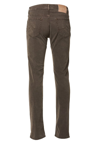 Brown-Wash Straight Leg Jeans