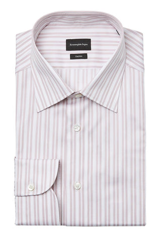 Ermenegildo Zegna, Pink Stripe Dress Shirt