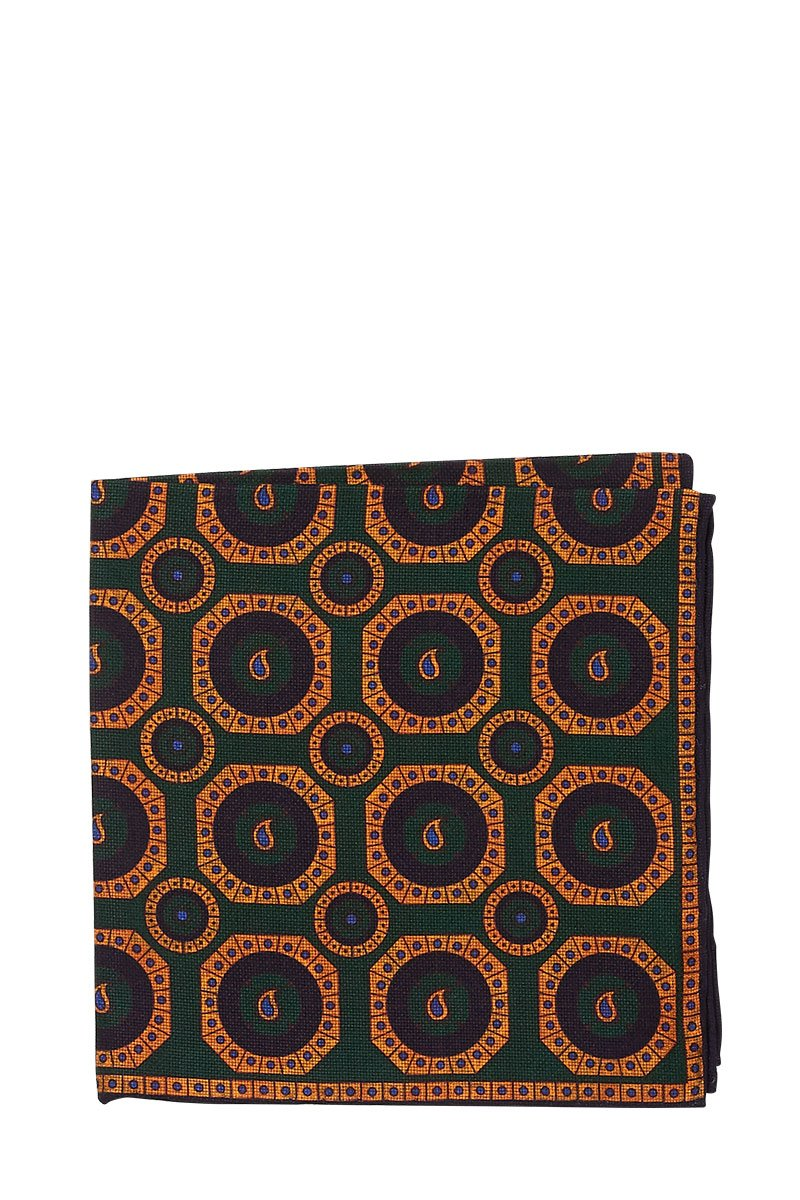 Seaward & Stearn, Geo Paisley Pocket Square