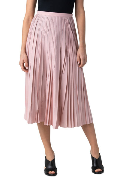 Pleated Plissé Midi Skirt